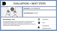 EVALUATION & NEXT STEP